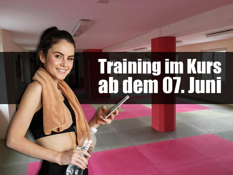 Kurs-Training ab dem 7. Juni